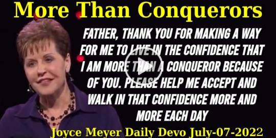 More Than Conquerors - Joyce Meyer Daily Devotion (July-07-2020)