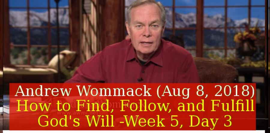 Andrew Wommack (Aug 8, 2018) - How to Find, Follow, and Fulfill God's Will - Week 5, Day 3 - The Gospel Truth