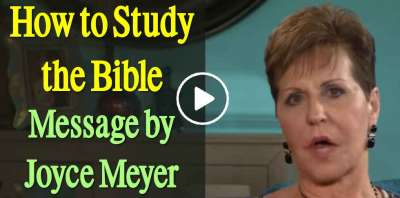 How to Study the Bible - Joyce Meyer Motivation (August-07-2019)