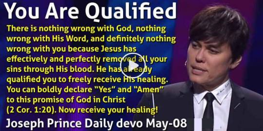 You Are Qualified - Joseph Prince Daily devotional (May-08-2021)