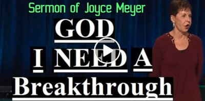 Joyce Meyer - God I Need A Breakthrough (December-12-2018)