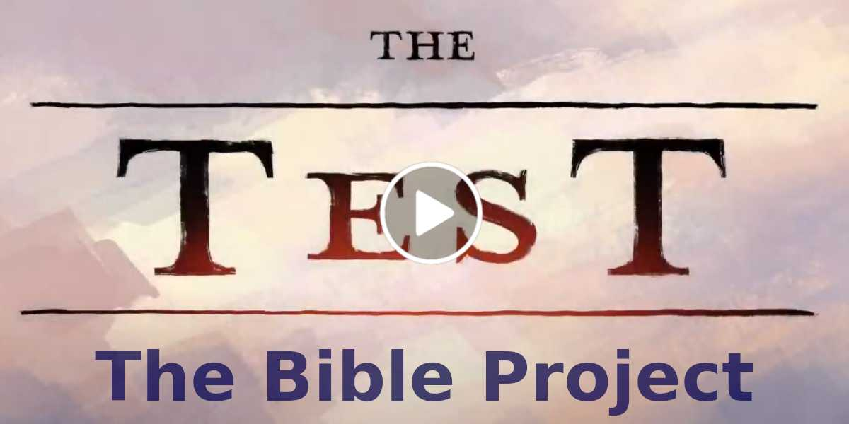 The Test - The Bible Project (October-13-2020)