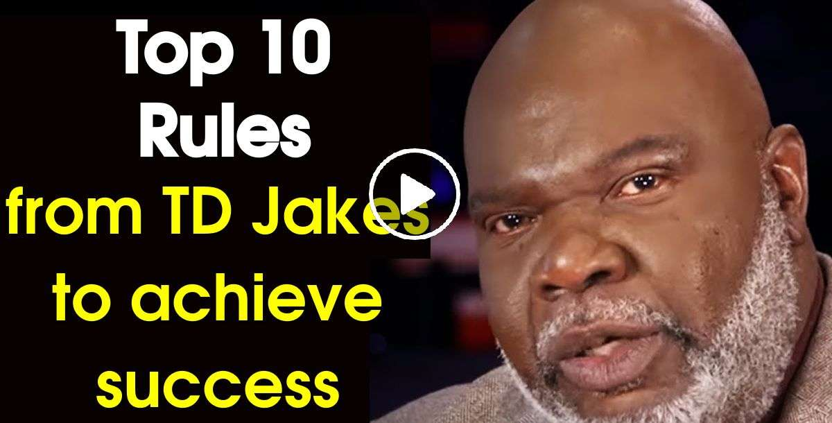 A SETBACK is a SETUP for a COMEBACK! - Top 10 Rules - Bishop T.D. Jakes (November-24-2020)