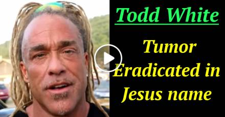 Todd White - Tumor Eradicated in Jesus name (March-01-2021)