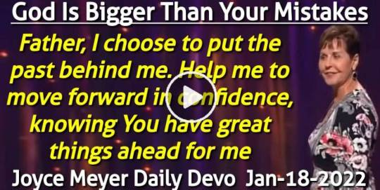 God Is Bigger Than Your Mistakes - Joyce Meyer Daily Devotion (January-18-2020)