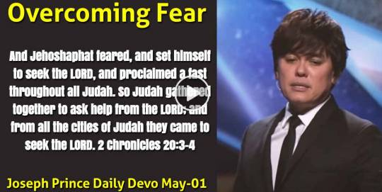 Overcoming Fear - Joseph Prince Daily Devotional (May-01-2021)