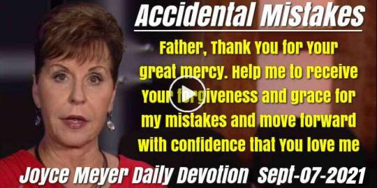 Accidental Mistakes - Joyce Meyer Daily Devotion (September-07-2019)
