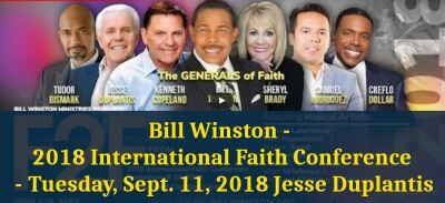 Bill Winston - 2018 International Faith Conference - Tuesday, Sept. 11, 2018 Jesse Duplantis