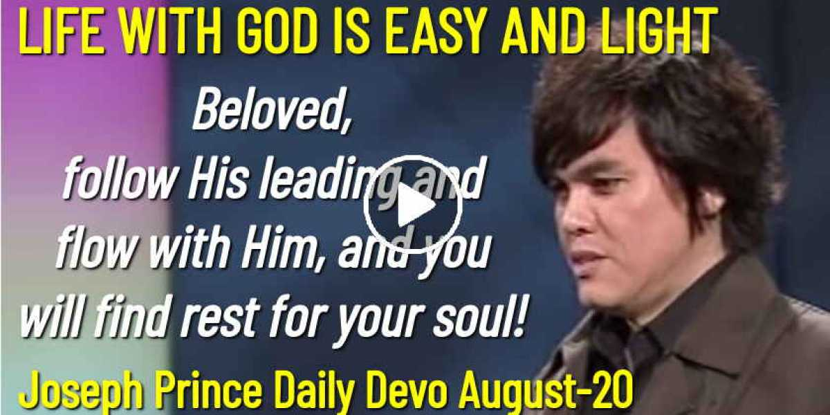 LIFE WITH GOD IS EASY AND LIGHT - Joseph Prince Daily Devotion (August-20-2020)