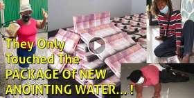 They Only Touched The PACKAGE Of NEW ANOINTING WATER... ! - TB Joshua Ministries (January-17-2021)