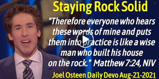 Staying Rock Solid - Joel Osteen Daily Devotion (August-21-2019)