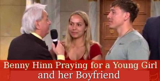 Benny Hinn Praying for a Young Girl and her Boyfriend (Jul 27, 2018)