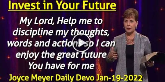 Invest in Your Future - Joyce Meyer Daily Devotion (January-19-2020)