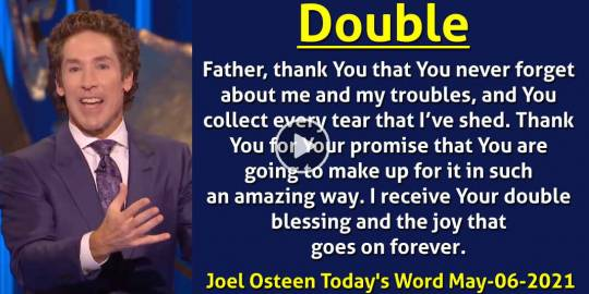 Double - Joel Osteen Today's Word (May-06-2021)