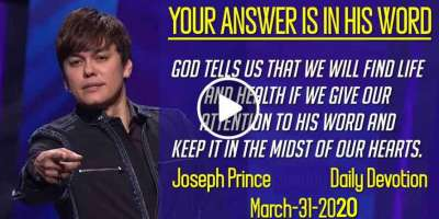 YOUR ANSWER IS IN HIS WORD - Joseph Prince Sunday Daily Devotion (March-31-2019)