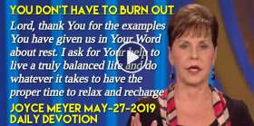 You Don't Have to Burn Out - Joyce Meyer Daily Devotion (May-27-2019)
