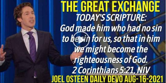 The Great Exchange - Joel Osteen Daily Devotion (August-16-2019)