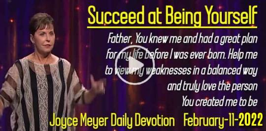 Succeed at Being Yourself - Joyce Meyer Daily Devotion (February-11-2019)