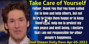 Take Care of Yourself - Joel Osteen Daily Devotion (April-05-2020)