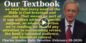 Our Textbook - Charles Stanley Daily Devotion (February-28-2020)