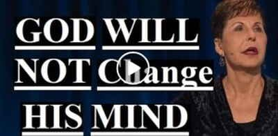 Joyce Meyer - God Will Not Change His Mind (December-19-2018)