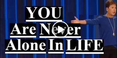 Joyce Meyer - You Are Never Alone In Life (March-12-2019)