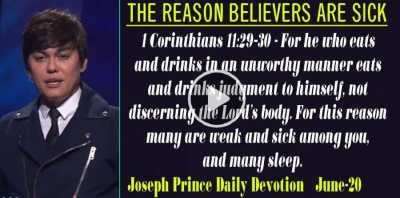 THE REASON BELIEVERS ARE SICK - Joseph Prince Daily Devotion (June-20-2019)