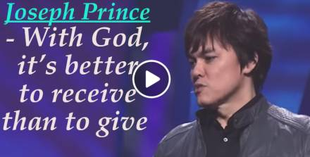 Joseph Prince - With God, it's better to receive than to give (April-25-2019)