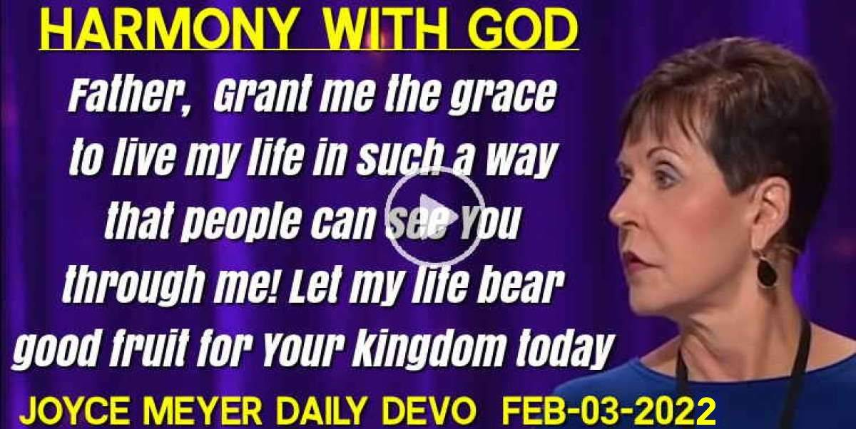joyce meyers daily devotion