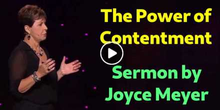 The Power of Contentment - Joyce Meyer (September-19-2018)