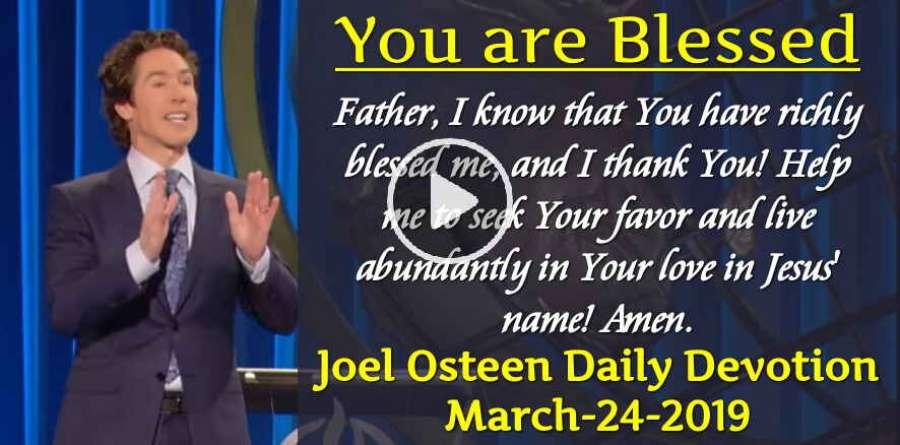 Joel olsteen daily devotional | Joel Osteen Daily Devotional Plan