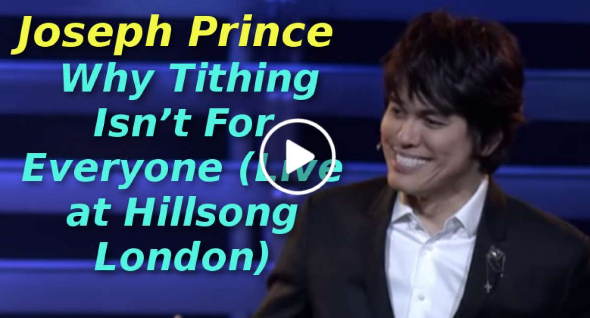 Joseph Prince - Why Tithing Isn't For Everyone (Live at Hillsong London) (December-11-2019)