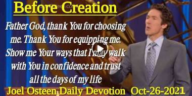 Before Creation - Joel Osteen Daily Devotion (October-26-2020)
