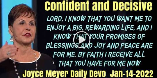 Confident and Decisive - Joyce Meyer Daily Devotion (January-14-2020)