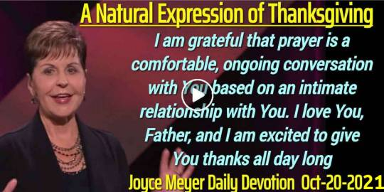 A Natural Expression of Thanksgiving - Joyce Meyer Daily Devotion (February-19-2019)