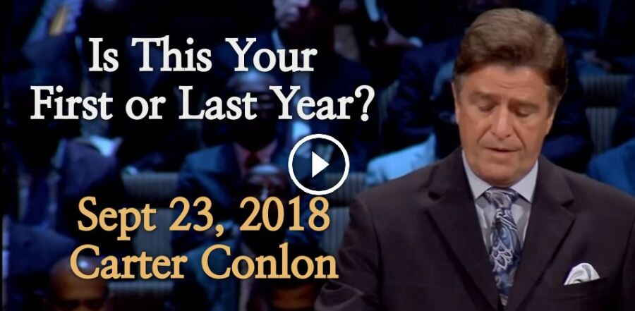 September 23, 2018 - Carter Conlon - Is This Your First or Last Year?