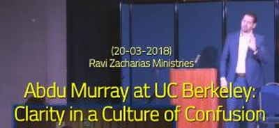 Abdu Murray at UC Berkeley: Clarity in a Culture of Confusion (20-03-2018) Ravi Zacharias Ministries