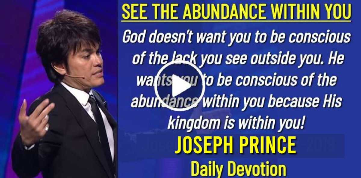 Joseph Prince (June-12-2019) Daily Devotion: SEE THE