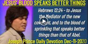 JESUS' BLOOD SPEAKS BETTER THINGS - Joseph Prince Daily Devotion (December-11-2019)