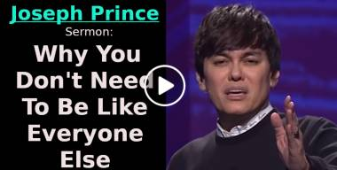 Why You Don't Need To Be Like Everyone Else - Joseph Prince (October-30-2020)