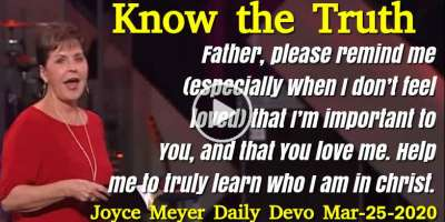 Know the Truth - Joyce Meyer Daily Devotion (March-25-2020)