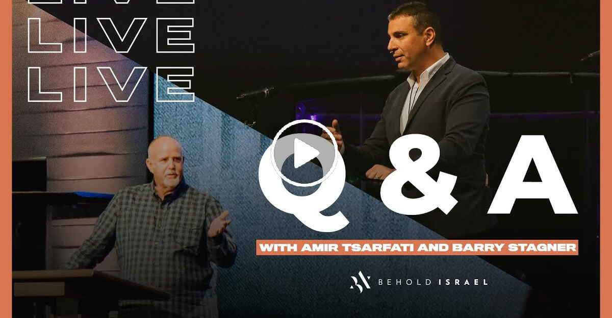 Live Q & A with Amir Tsarfati and Pastor Barry Stagner (August-19-2020)
