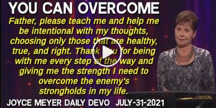 You Can Overcome - Joyce Meyer Daily Devotion (July-31-2020)