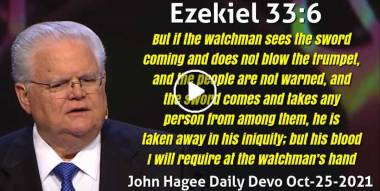 Ezekiel 33:6 - John Hagee Daily Devotion (October-25-2020)