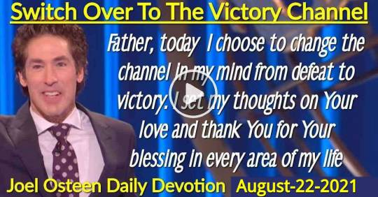 Switch Over To The Victory Channel - Joel Osteen Daily Devotion (August-22-2019)