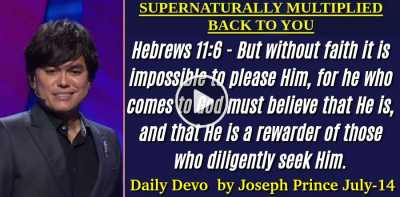 SUPERNATURALLY MULTIPLIED BACK TO YOU - Sunday Daily Devotion by Joseph Prince (July-14-2019)