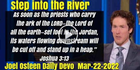 Step into the River - Joel Osteen Daily Devotion (March-22-2020)