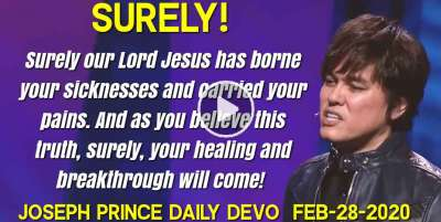 SURELY! - Joseph Prince Daily Devotion (February-27-2019)
