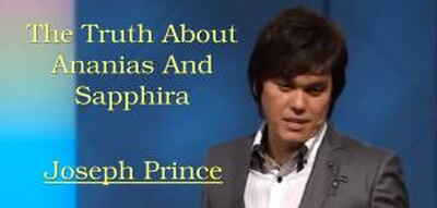 The Truth About Ananias And Sapphira - Joseph Prince (28-11-2010)