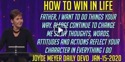 How to Win in Life - Joyce Meyer Daily Devotion (January-15-2020)